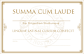 CERTIFICATE OF AWARD-SUMMA CUM