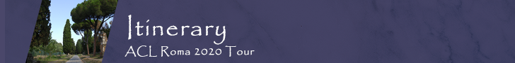 ACL Rome Tour Itinerary Banner